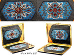 Antique Beadwork & Leather Cigar Cigarette Case, Suitable or Cell Phone or Purse