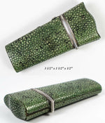 Antique 1700s Shagreen Neccesaire, Man's Military Vanity Items, Sterling Silver