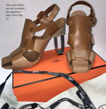 Hermes Sandals, Booties, US 8.5 to 9, EU 39, Saddle Leather, Open Architecture