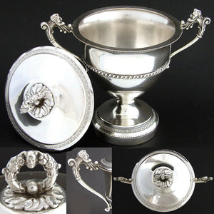 Vintage Italian .800 (nearly sterling) Silver Confiturier or Drageoir, Figural