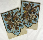 Pristine Pair of Victorian Beadwork Shield Face Screen Panels, Frame or Pillows