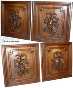 "PAIR Antique Victorian 25"" Carved Architectural Furniture Doors, Panels: Hunt"