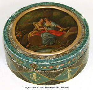 Rare Antique 1700s French Snuff Box, Vernis Martin Style & Miniature Painting