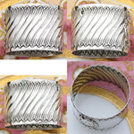 "Antique French Sterling Silver Napkin Ring, Louis XV or Rococo Pattern, ""GV"""