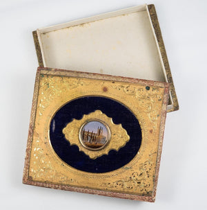Antique French Grand Tour Eglomise Box for Chocolates, Bonbons, c.1830-60