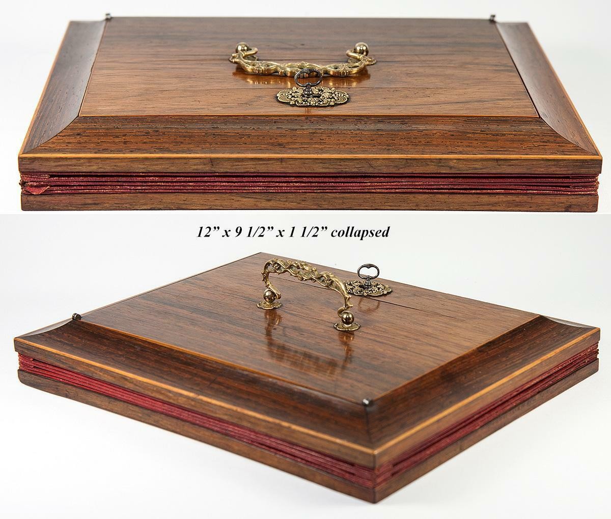 RARE Antique French Stationery Box, Accountant or Attorney's Briefs Chest, 1830s