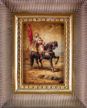 Vintage Oil Painting in Frame, Apres The Orientalist Movement, Signed.