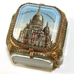 "Antique French Grand Tour Eglomise Souvenir Casket, Box, ""Sacre Coeur Montmartre"""