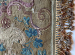 Antique Tapestry Fragment, Ready for Pillow, Metallic Trim, French or Flemish