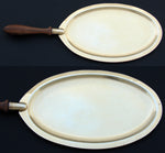 Antique to Vintage French 18k Gold on Sterling Silver Vermeil Communion Plate, Server