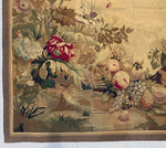 "Antique 19th c. French Aubusson or Gobelin Wall Hanging 67"" x 66"" Tapestry, Floral, Fruit"