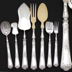 Antique PUIFORCAT French Sterling Silver 7pc Serving Set, Pele a Tarte, Salad + Hors d'Oeuvres