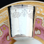 Fine Antique French 1819-1838 Sterling Silver Wine or Mint Julep Cup, Tumbler or Timbale