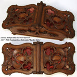 "Lovely Antique Black Forest 12.5"" Sewing Box, Casket, Pierce Carved"