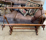 Antique French Carved Wood Needlework Frame, Extra Large for Embroidery, Needlepoint, Quilting