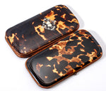 Antique French Napoleon III Tortoise Shell Cigar Case, Spectacles Case or Evening Purse, c.1850s