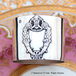 Antique French Sterling Silver Napkin Ring, Empire Style Cornucopia, No Monogram