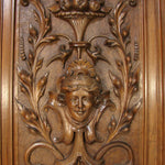 "Antique Carved 30.5"" Panel, Plaque, Figural Furniture or Architectural Salvage, Serpents"