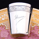 "Antique French Sterling Silver Mint Julep Cup, Tumbler or Timbale, ""Denise"", Eagle Figural Bands"
