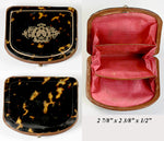 Finest Antique Tortoise Shell Coin Purse, French Tortoiseshell Pique, EC