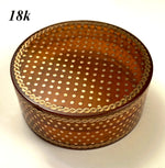 Antique c.1700s French Snuff Box, 18k Gold Pique Worked Blond Tortoise Shell