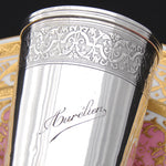 "Elegant Antique French Sterling Silver Wine or Mint Julep Cup, Tumbler, Timbale, ""Aurelien"""