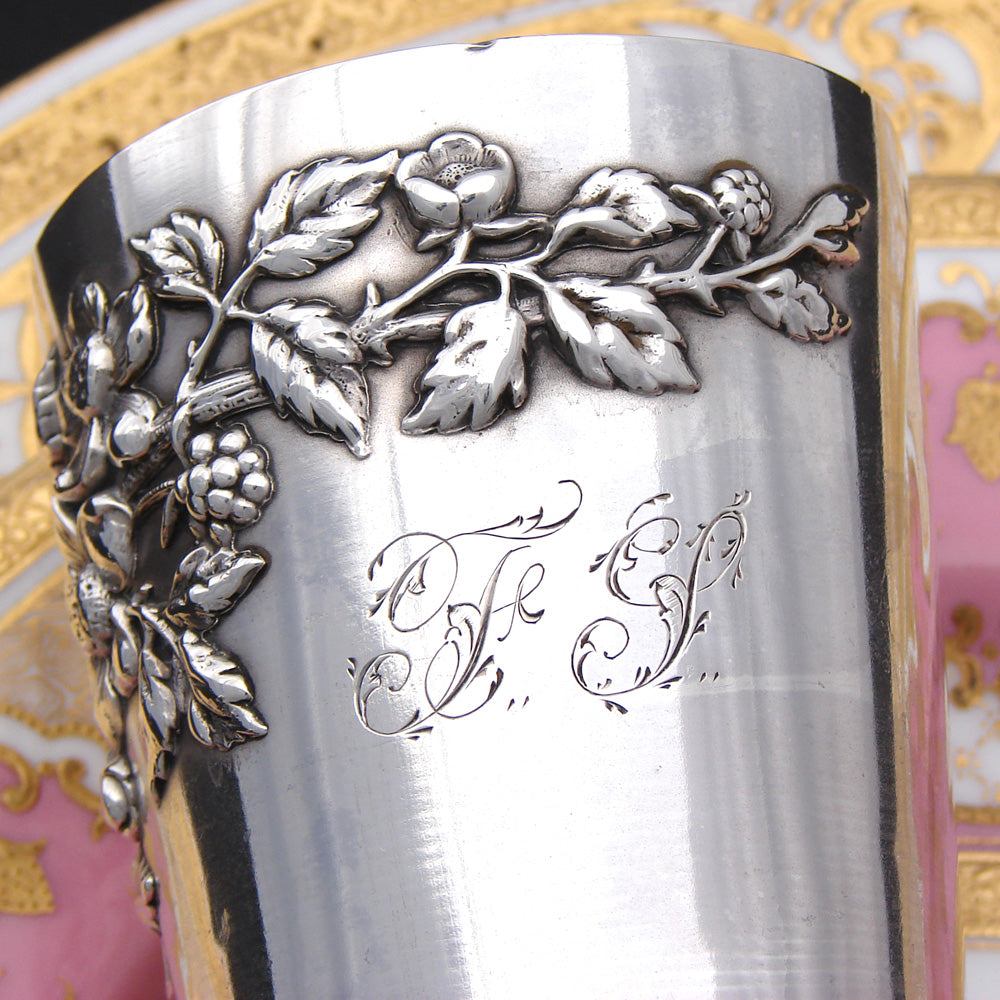 "Antique French Sterling Silver Wine or Mint Julep Cup, Tumbler or ""Timbale"""
