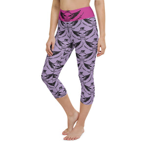 Team FSC Skulls Capri Leggings PINK & PURPLE