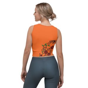 Team FSC Sugar SKulls Crop Top ORANGE
