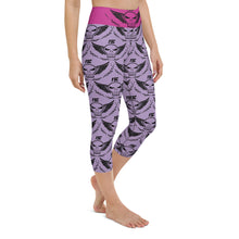 Load image into Gallery viewer, Team FSC Skulls Capri Leggings PINK & PURPLE