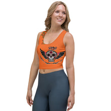 Load image into Gallery viewer, Team FSC Sugar SKulls Crop Top ORANGE