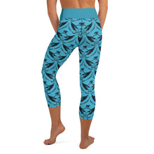 Load image into Gallery viewer, Team FSC Skulls Capri Leggings BLUE & TEAL
