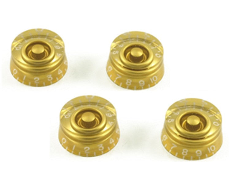 16 pcs ( Lot ) of GOLD gold speed knobs hatbox style for LP SG ES335 guitars