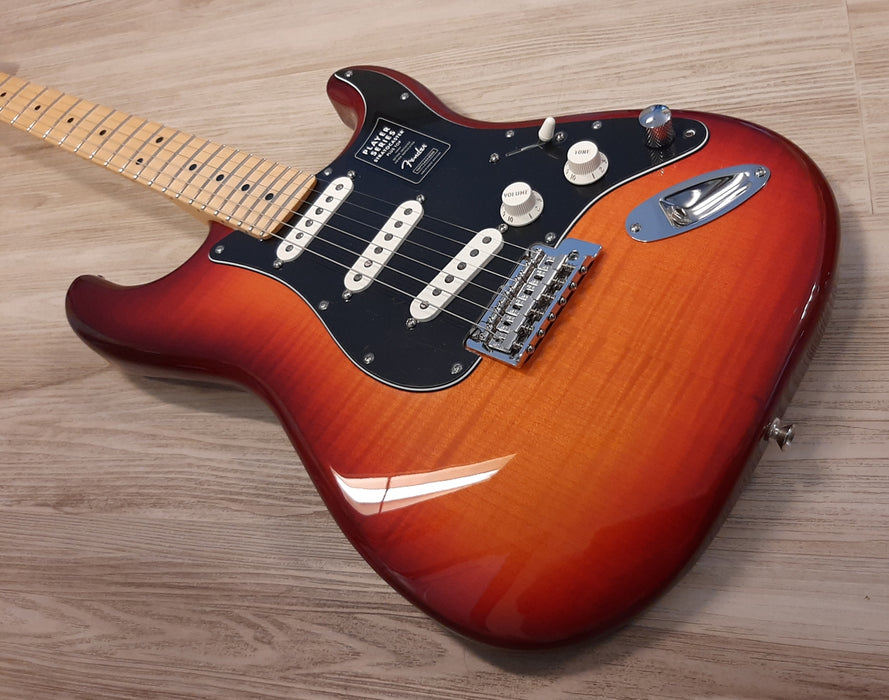 2020 Fender® Aged Cherry Sunburst Stratocaster SSS w/ SUPER Charged Mods & Gigbag