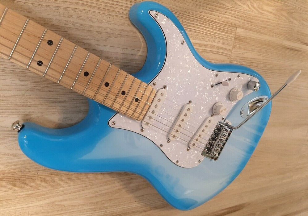 "Elite ® Strat Style Pro Style Guitar ""Sky Blues "" ,Hot Mods w/ Z-Mules® LTD"