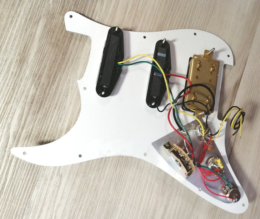 2020 FENDER SQUIER STRAT HSS 11-HOLE LOADED PICKGUARD Stratocaster w Crazy MODS (Blender Knob)