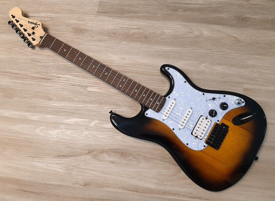 Fender Squier Stratocaster Guitar TurboCharged w/Blender MOD Sunburst Strat HSS