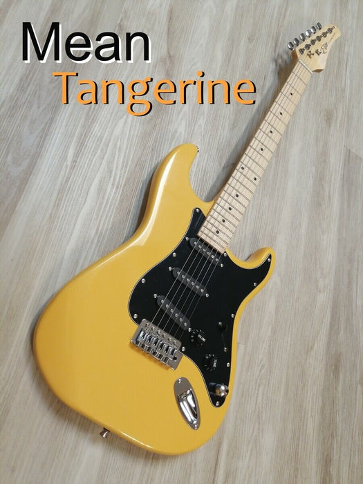 "Elite ® Strat Pro Style Guitar "" Mean Tangerine "" ,Hot Mods w/ Z-Mules® Mod'd"