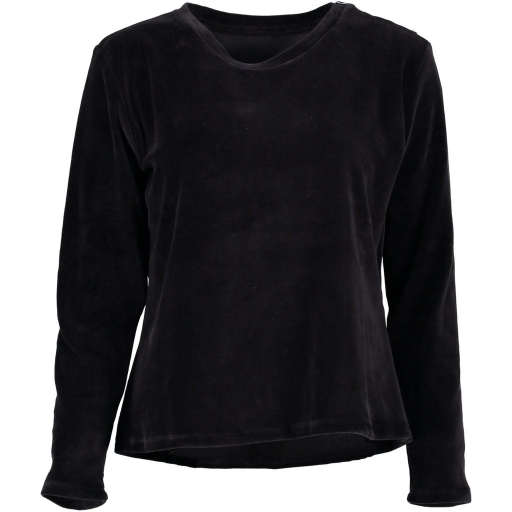 Top Longsleeve Velour Cotton