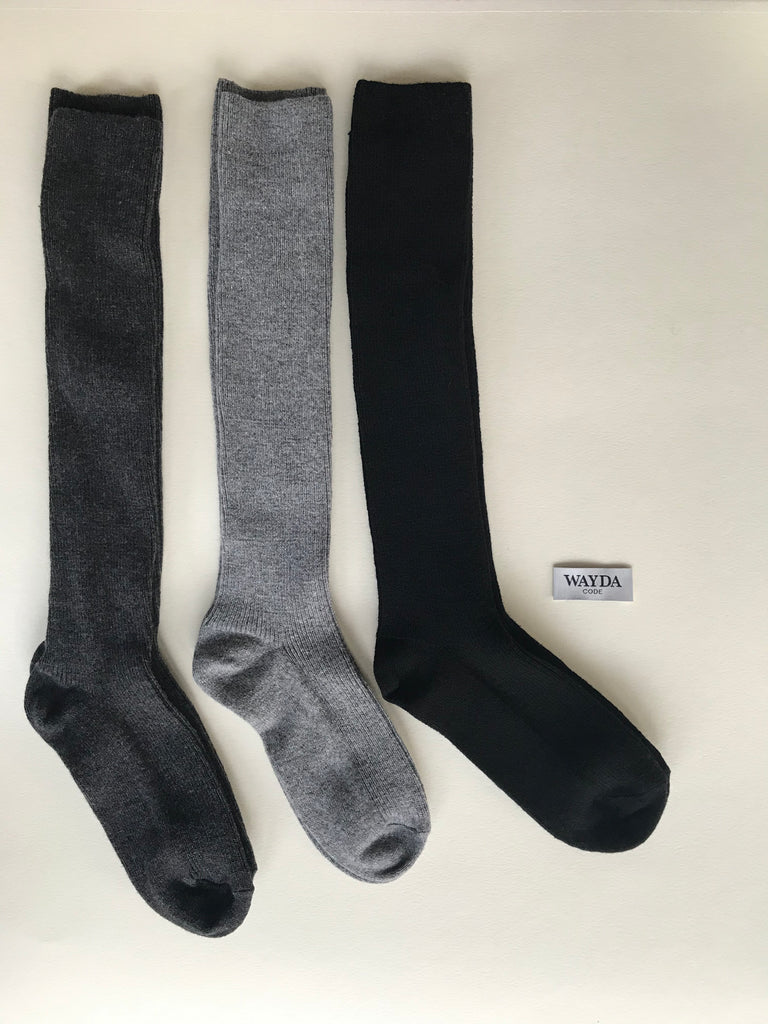 Stockings Wool-Cashmere GREY