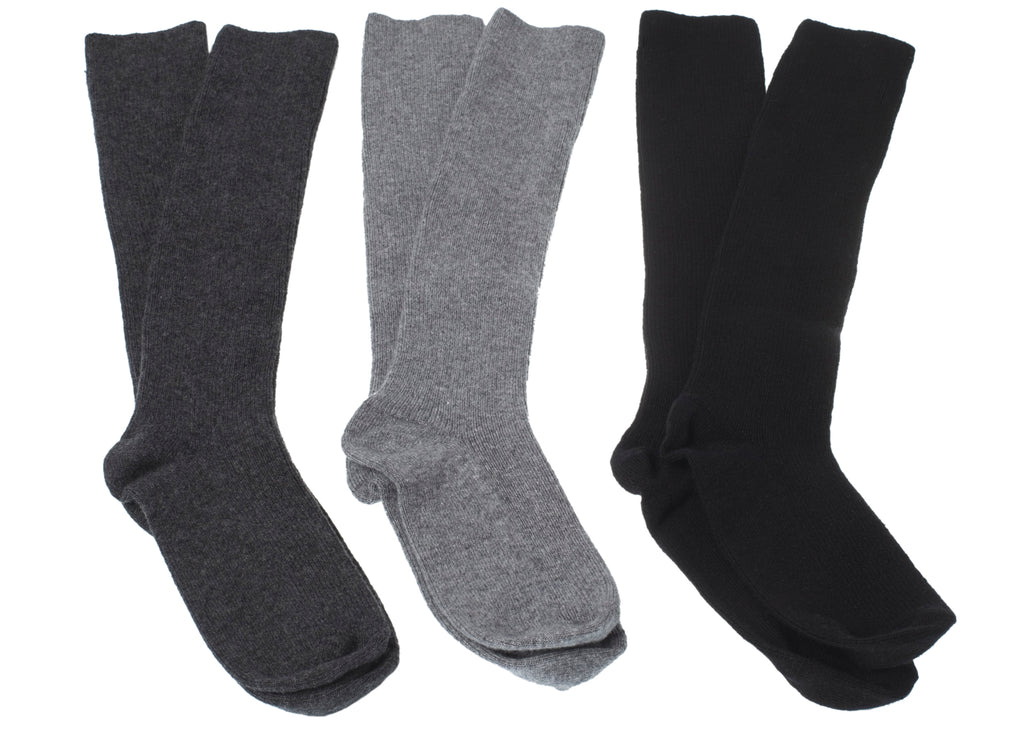 Stockings Wool-Cashmere ANTHRACITE
