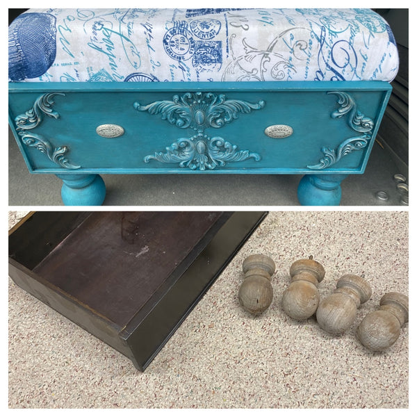 How to Repurpose Drawer into an Ottoman