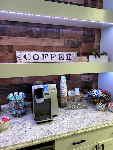 Coffee Barnwood sign