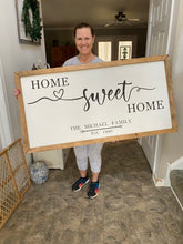 Load image into Gallery viewer, Home Sweet Home Farmhouse Sign