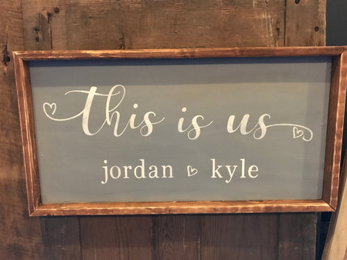 This Is Us Personalized Sign