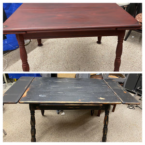 Refinished Farmhouse Table and Chairs