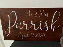 Load image into Gallery viewer, Mr. & Mrs. Personalized Sign