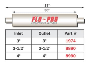 "FLO~PRO Heavy Duty Diesel - Baffle | 30"" Body Center/Center"