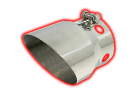 Bolt-on Vented Angle Cut | Polished 304 Stainless Exhaust Tip