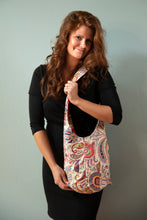 Load image into Gallery viewer, Reversible One-of-a-Kind Fabric Bag - Red Floral with Zebra